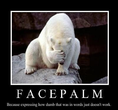 facepalm some days you just have to shake your head the view from a